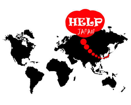 devastating: help japan on the world map