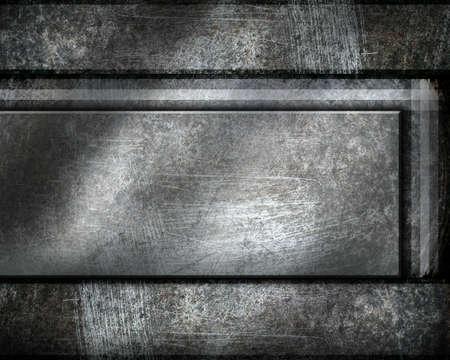 nail bar: metal template background Stock Photo