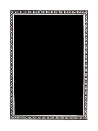 antique slim silver frame isolated Stock Photo - 12695558