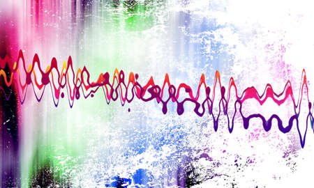 sound wave on grunge background Stock Photo - 12707021