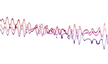 sound wave on white background