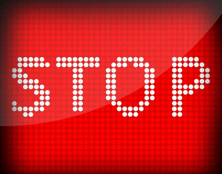 deter: the word Stop on a red background