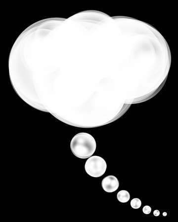 thinking illustration on a black background illustration