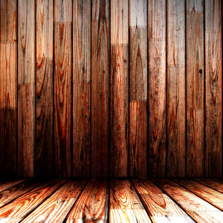 wooden wall and floor in the room photo
