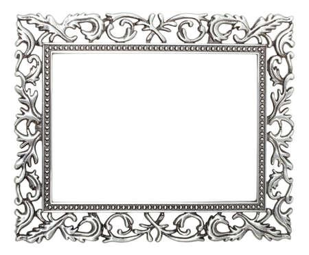 silver frame: wrought iron frame   Stock Photo