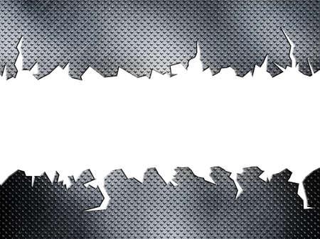 diamante agrietado placa de metal Foto de archivo