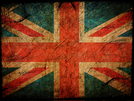 Bandera de Inglaterra en el grunge de pared photo
