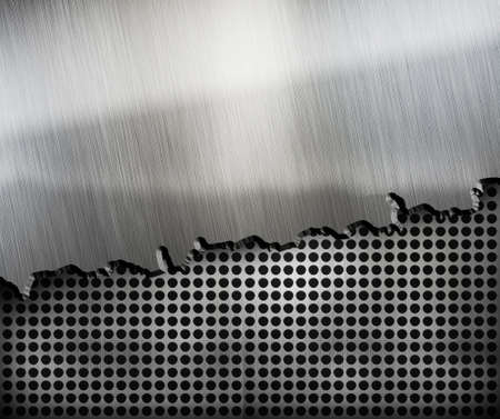 ironworks: crack metal background template Stock Photo