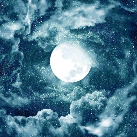 moon in blue sky photo