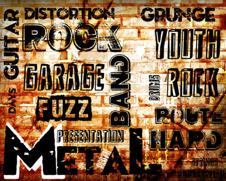 emo: Rock Music poster on grunge