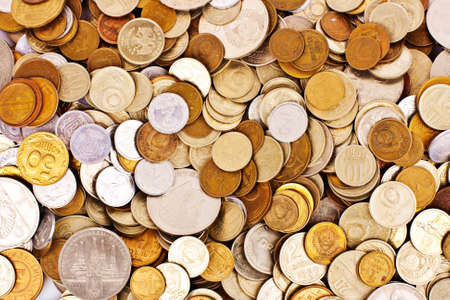 silver coins: Coins background Stock Photo