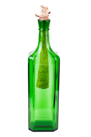 letter in the green bottle  photo