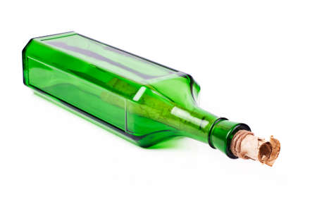 closed corks: letter in the bottle