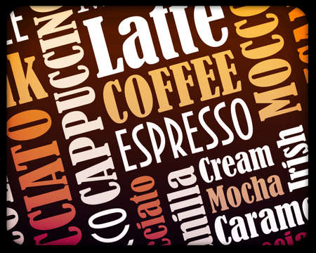 sorts of coffee background Stock Photo - 12995372