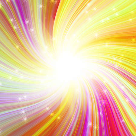 explosión mágica que brilla intensamente colorido