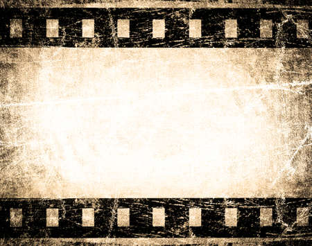 grunge film stripe with place for text