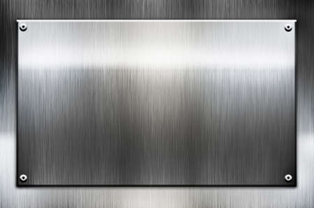 brushed steel: metal template background Stock Photo