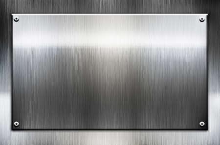piastra acciaio: metal template di sfondo Archivio Fotografico