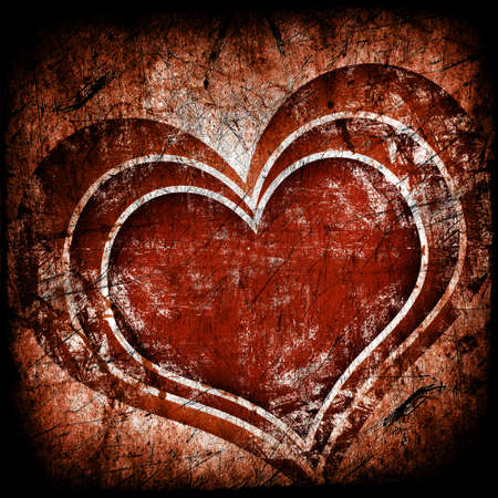 grunge fondo de arte con el corazón