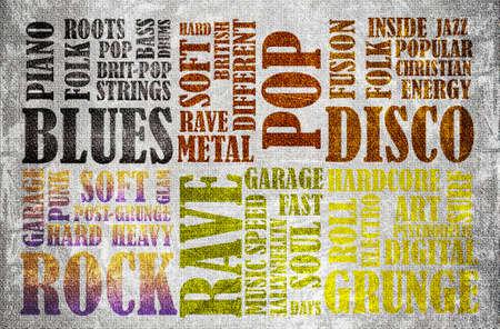 Rock Music poster on grunge photo