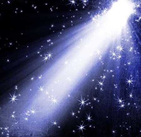 spotlight with stars Standard-Bild