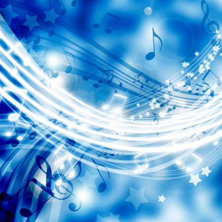 swirling: abstract background with musical elements Stock Photo