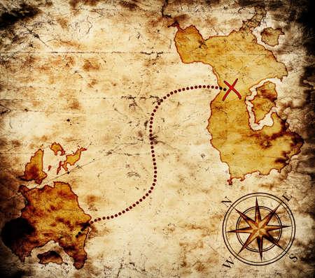 carte tr�sor: vieille carte au tr�sor