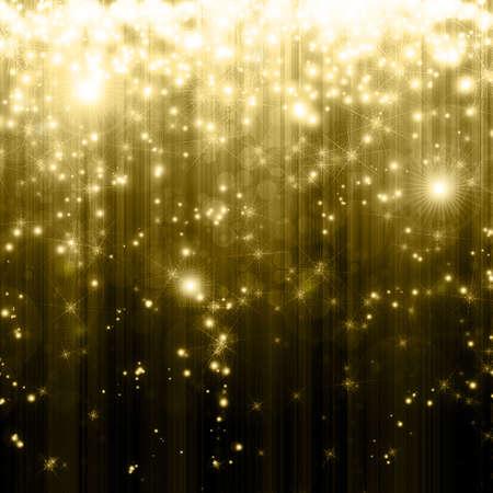 descending: stars descending on golden background