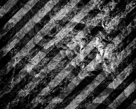 hazard stripes: abstract rusty background with stripes Stock Photo