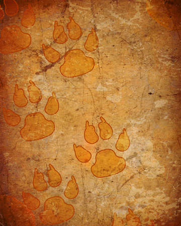 background with dog paw prints Stock Photo - 13504416