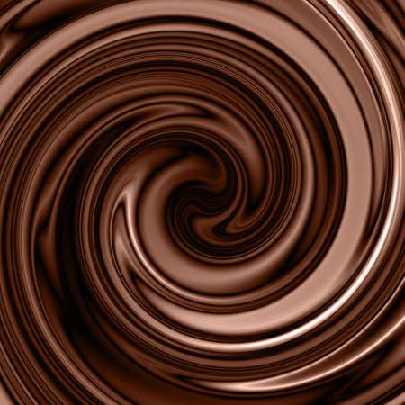 chocolate caliente: chocolate con forma de remolino de fondo Foto de archivo