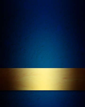 elegant blue and gold Christmas background with vintage grunge texture