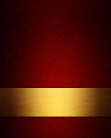 elegant red and gold Christmas background with vintage grunge texture photo