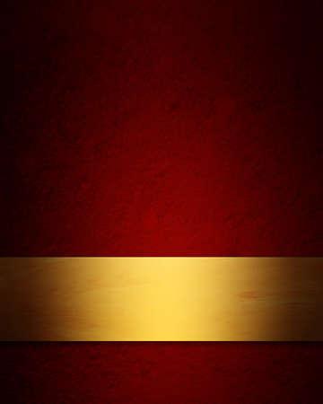 elegante, de color rojo y oro de Navidad de fondo con la textura del grunge del vintage