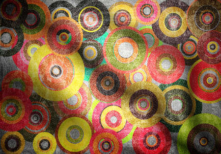 fabric with circles and folds photo