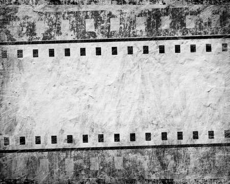 grunge film streep met plaats voor tekst Stockfoto