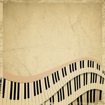 grunge musical background with piano keyboard photo