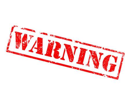 grunge warning stamp photo