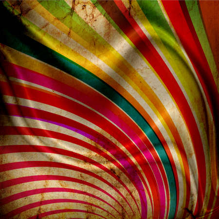 Multicolor Sunbeams grunge background with folds photo