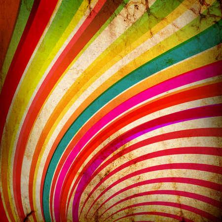 Los rayos de sol multicolor de fondo grunge