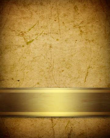 soft golden brown parchment background with ribbon Standard-Bild