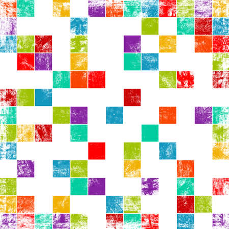 worn out background with squares Stock Photo - 13504370