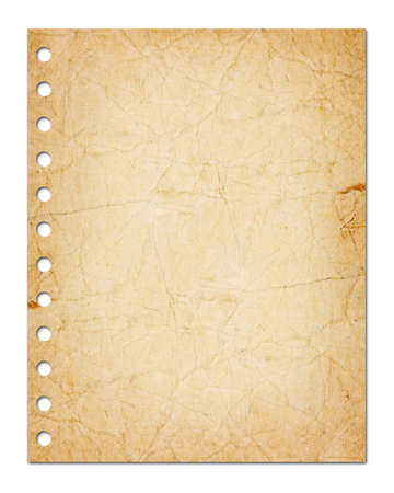 notebook cover: blank sheet of paper isolated on white