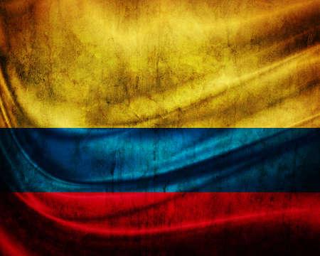 Grunge bandera de Colombia