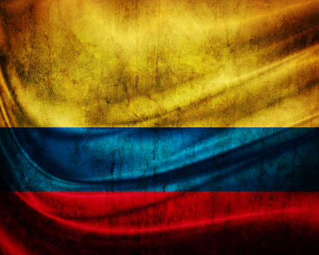 colombia flag: Grunge flag  Colombia