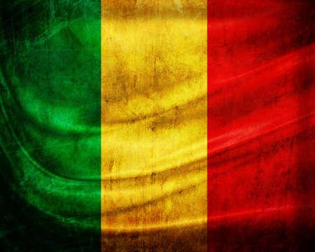 Grunge flag Mali photo