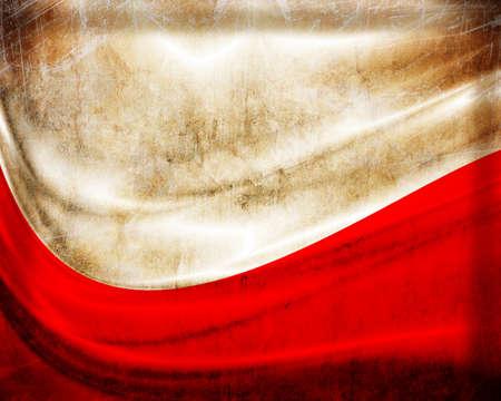bandera de polonia: Grunge bandera de Polonia