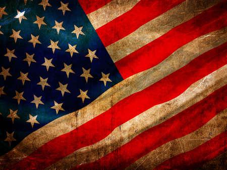 Grunge USA flag series