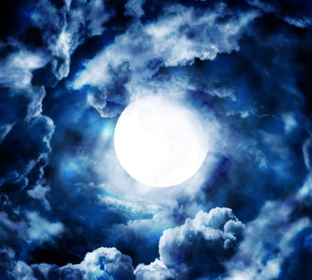 dark cloud: moon in blue sky