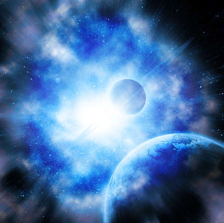 planets against the sun in space Stock Photo - 13755983